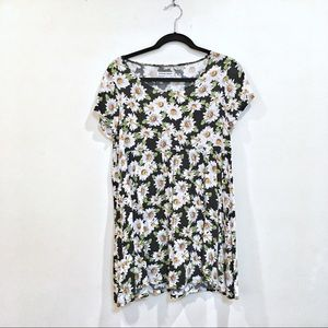 AMERICAN APPAREL BABYDOLL SUNFLOWER PATTERN DRESS